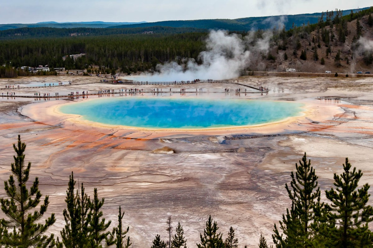 The Grand Prismatic Spring Overlook at Yellowstone National Park #vezzaniphotography