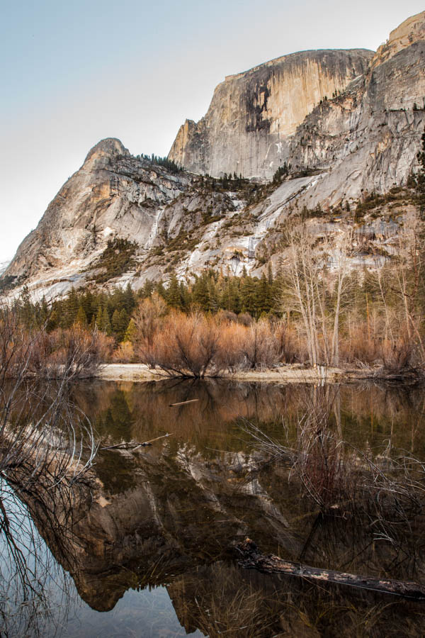 Reflection of Half Dome in Mirror Lake at Yosemite National Park #vezzaniphotography