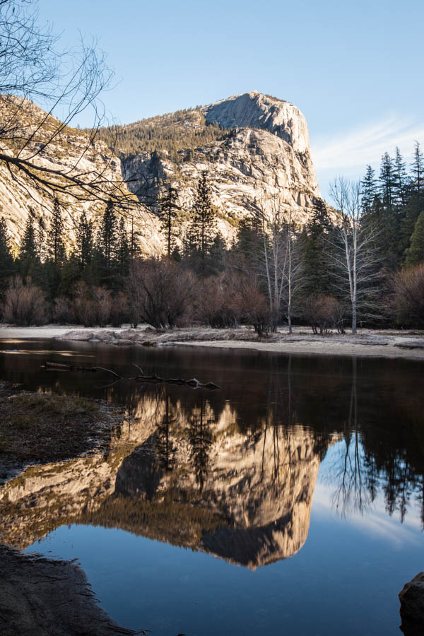 Reflection of Mount Watkin in Mirror Lake at Yosemite National Park #vezzaniphotography