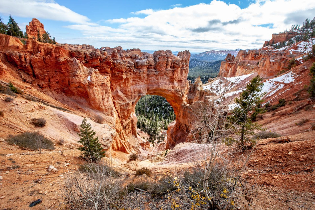 18-Mile Scenic Drive Natural Bridge Overlook at Bryce Canyon National Park Best Photo Spots Bryce Canyon #vezzaniphotography