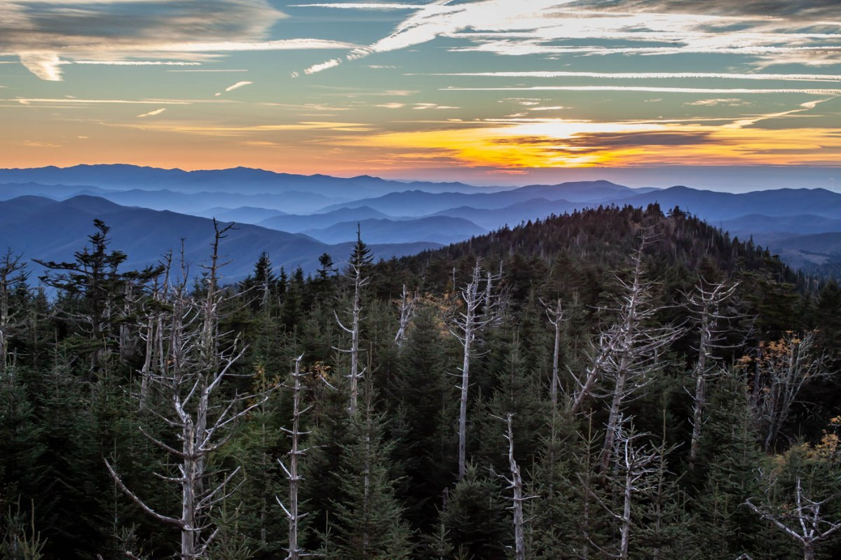 Clingmans Dome Sunset at Great Smoky Mountains National Park located off of Newfound Gap Road - Best Photo Spots #vezzaniphotography