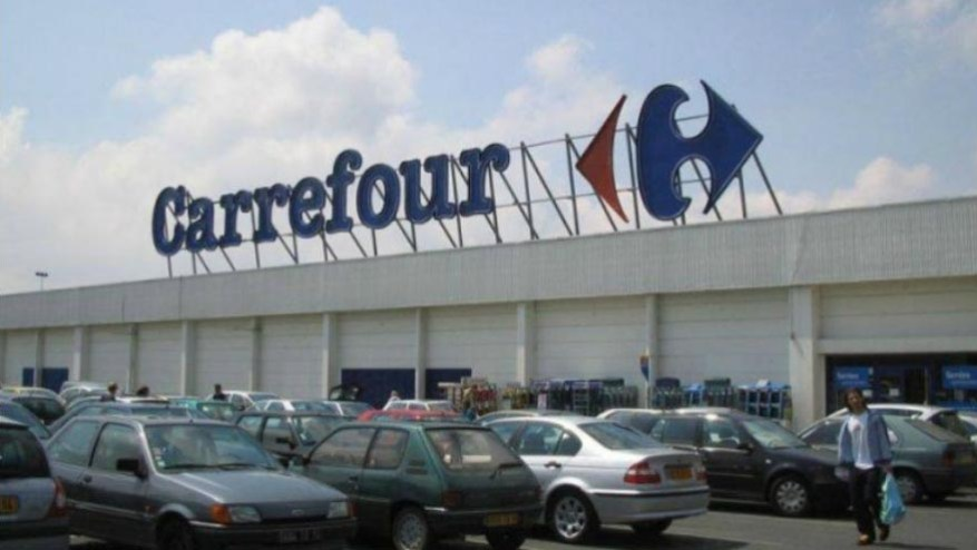 Carrefour shares rose nearly 14 percent in morning trading in Paris on Wednesday