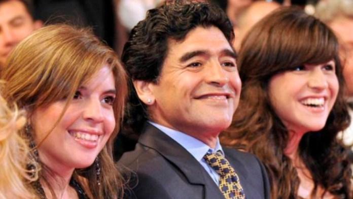 Diego with Dalma and Gia