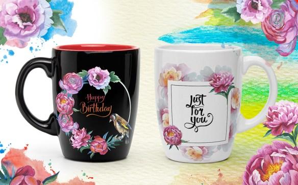 Colorful Peonies JPG Watercolor Flower Illustrations