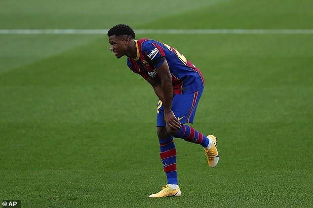 El Barcelona ha revelado que Ansu Fati podría estar fuera de varios meses por una lesión de rodilla