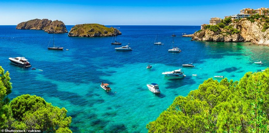 Fly and flop: There are bargains to be had on seven-night holidays to Majorca (pictured) and Lanzarote in July 2021