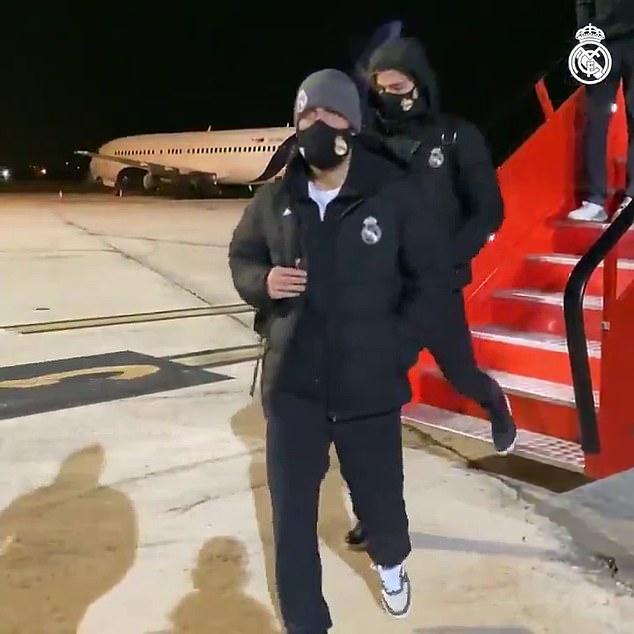 El Real Madrid llegó a Pamplona el viernes antes de una inesperada larga temporada en la carretera