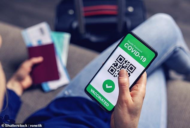 A los turistas se les podría ofrecer una aplicación de teléfono ¿en unas semanas¿ que les permitiría demostrar que han dado negativo en la prueba de Covid o que han sido vacunados (ejemplo de una aplicación de teléfono de pasaporte de viaje)