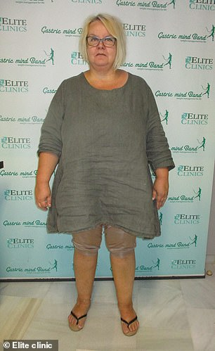 Mother-of-one Reija Uski, 55, ballooned to nearly 16-and-a-half stone