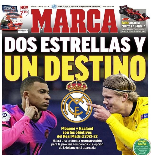 Marca ha informado que el Real Madrid hará todo lo posible por Kylian Mbappé y Cristiano Ronaldo
