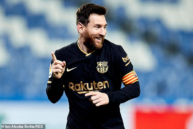 Lionel Messi could be heading into his last few games for Barcelona with his deal up in June