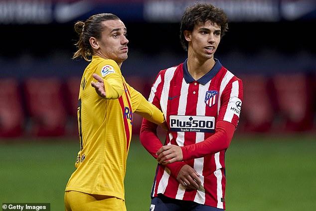 El Atlético de Madrid rechazó un acuerdo de intercambio directo entre Joao Félix (derecha) y Antoine Griezmann de Barcelona (izquierda), según informes.