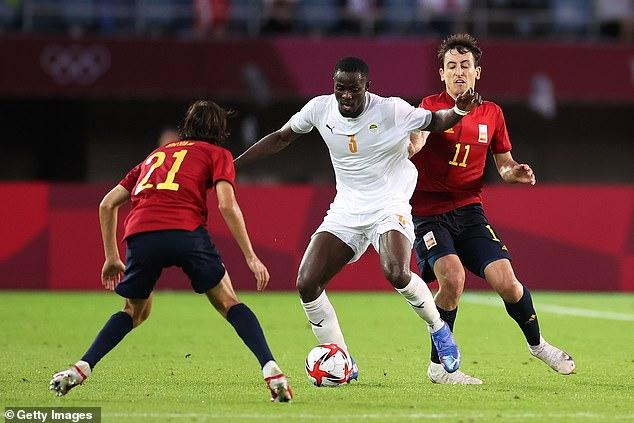 Eric Bailly tuvo una tarde llena de acontecimientos en los cuartos de final olímpicos de Costa de Marfil con España