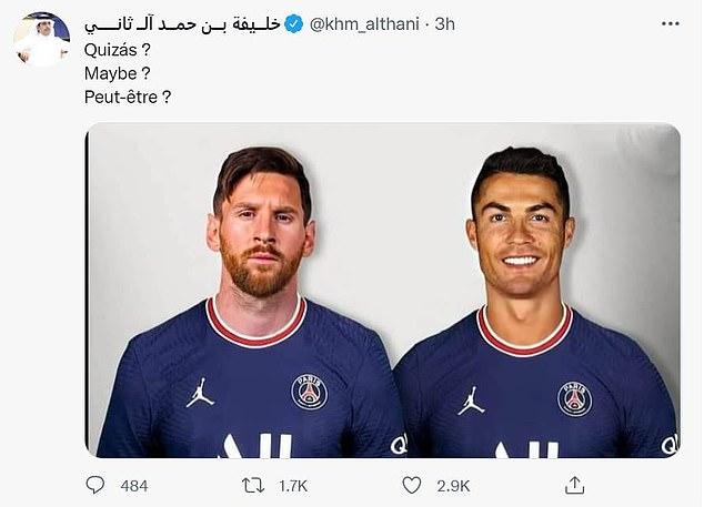 El hermano del dueño del PSG se ha burlado de que Cristiano Ronaldo podría jugar con Lionel Messi