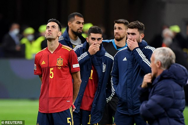 Sergio Busquets (left) and Spain suffered heartbreak after losing the Nations League final