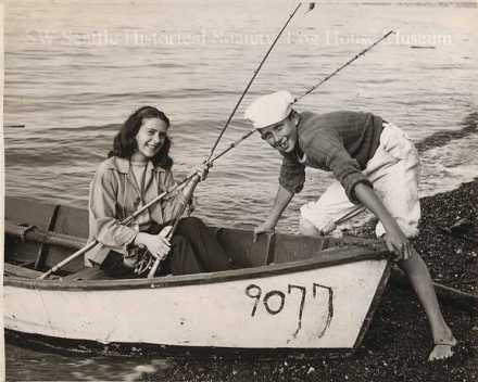 two kids in boat