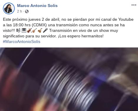 Marco Antonio Solís ofrecerá concierto en línea, ¡disfrútalo desde tu casa!