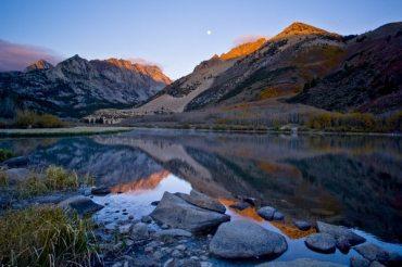 Moonset over North Lake, East Sierra, California