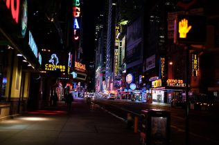New York, NY Oct. 12, 2014 A quiet Times Square seen at 4am. Photo by M.B. Elian
