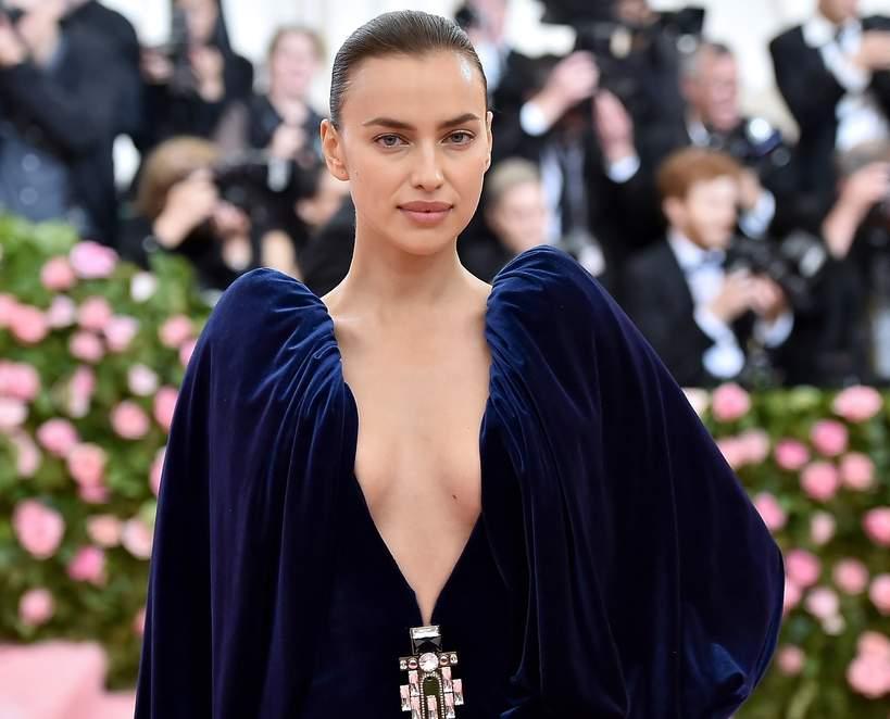 Irina Shayk 2021 dress with a neckline 2021