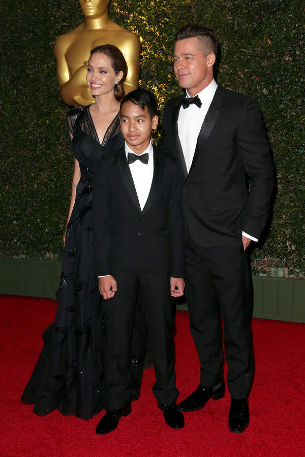 Maddox Jolie-Pitt gave the testimony.  He accuses Brad Pitt of domestic violence