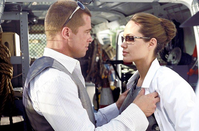 Angelina Jolie and Brad Pitt in