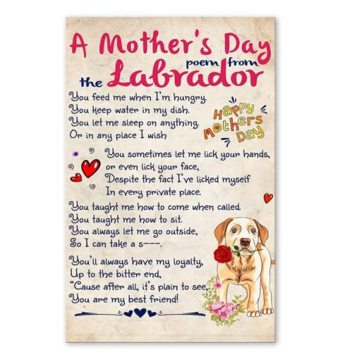 A Mother's Day Poem From Labrador Poster
