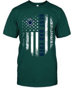 Best Dallas Cowboys Dad Ever American Flag Shirt