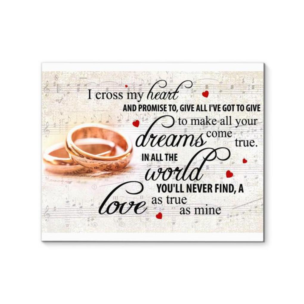 George Strait I Cross My Heart Lyric Wedding Rings Canvas