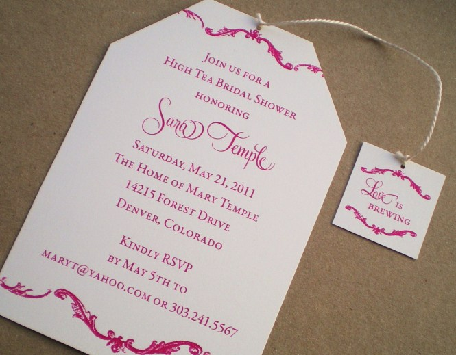 Baby Shower Afternoon Tea Invitation Wording Showers