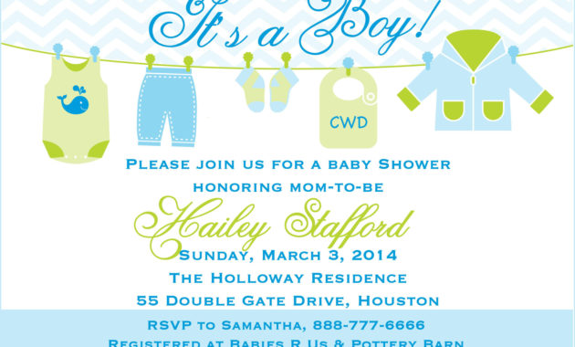 Baby Shower Invitations Templates For
