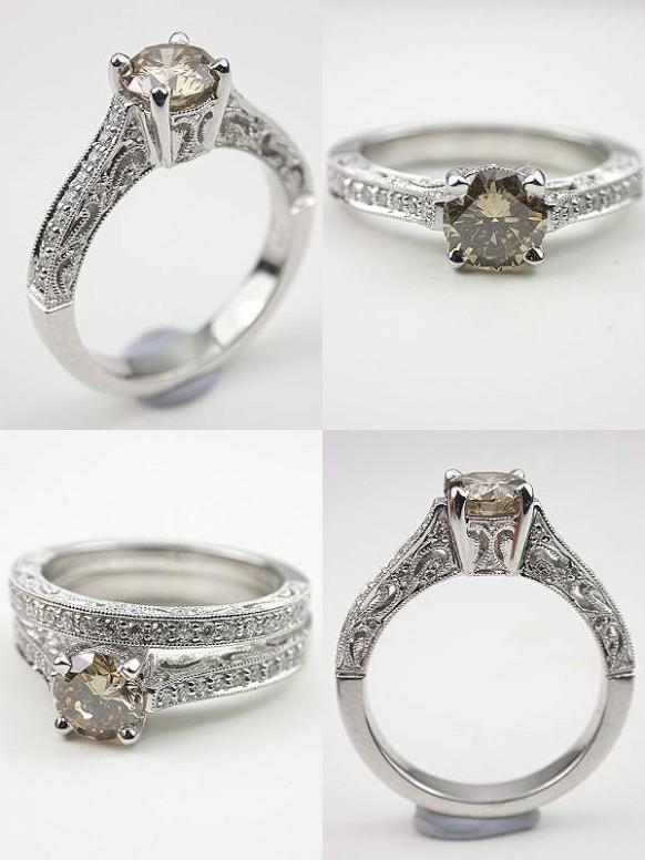 Timeless Beauty Antique Style Engagement Rings From