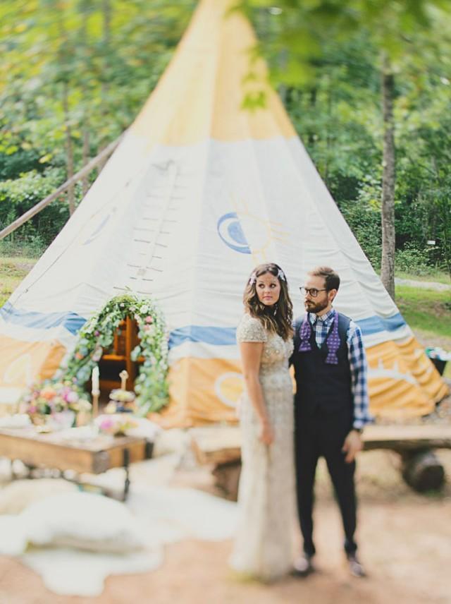 Bohemian Glam Wedding Inspiration On A Tipi Farm Weddbook
