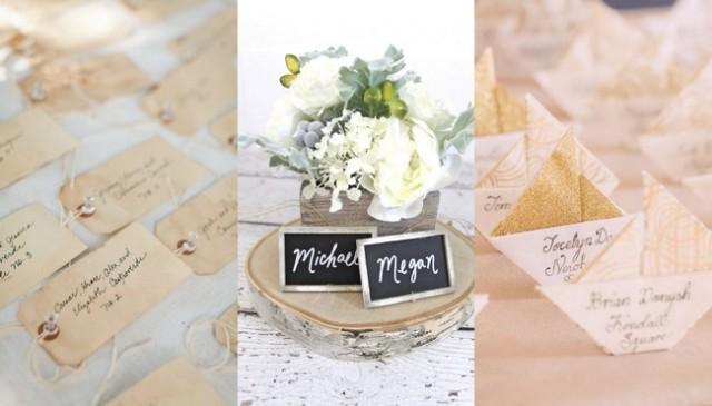 Unique Wedding Place Card Ideas
