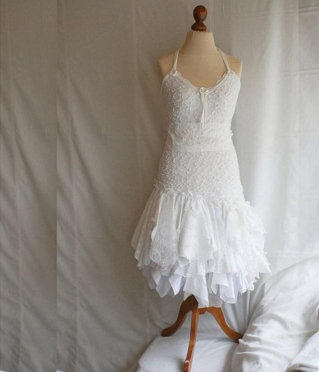Fairy Wedding Dress Upcycled Clothing Tattered Romantic
