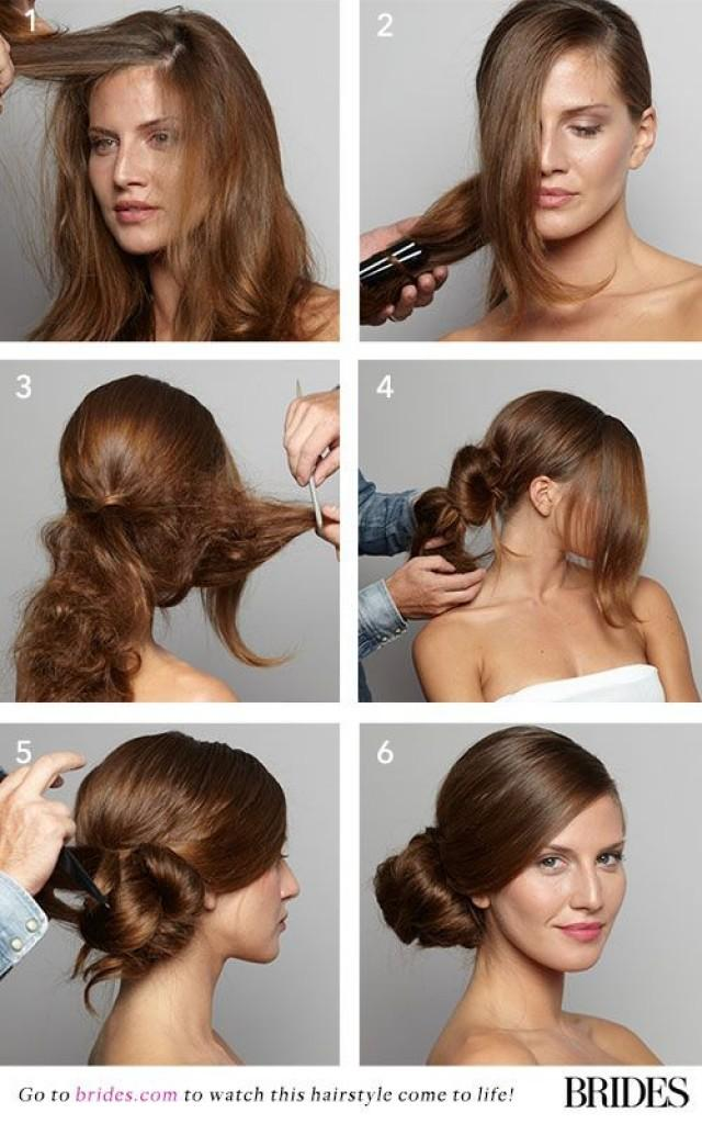 Wedding Hairstyle 101 How To DIY A Side Bun 2167663