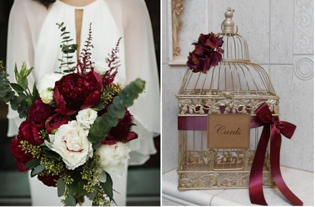 Burgundy And Wine Wedding Color Combination Weddbook