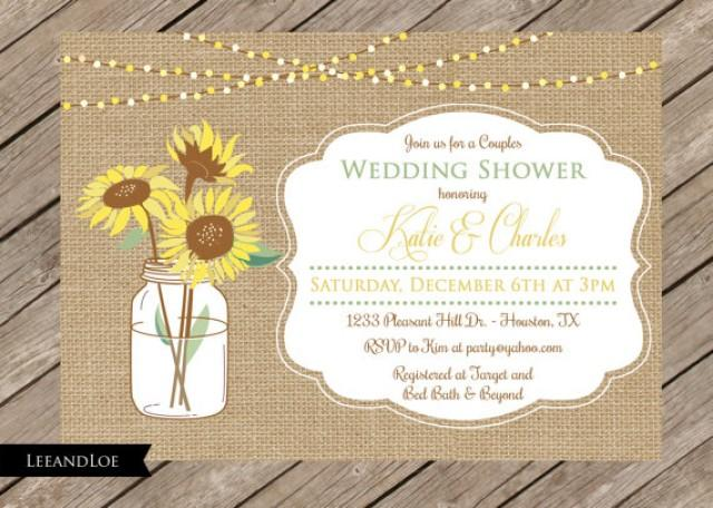 Rustic Couples Or Coed Wedding Shower Invitation Burlap