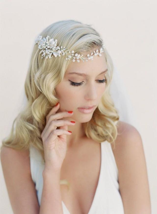 Wedding Headband Hair Wraps Bridal Hair Wreath Crystal And