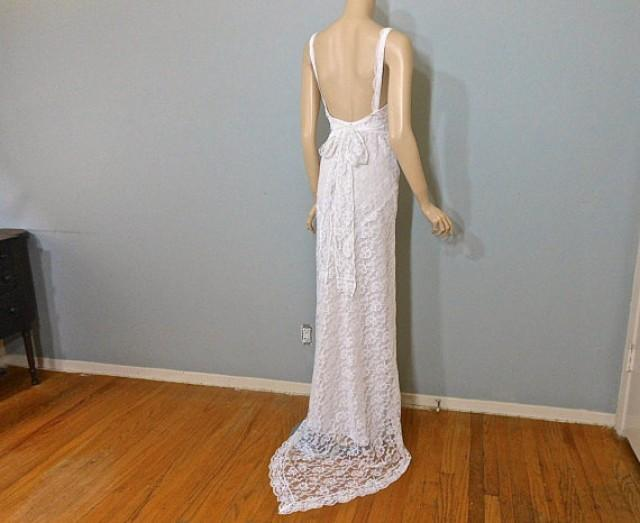 Vintage 70's WEDDING Dress Boho WEDDING Dress, Halter Maxi