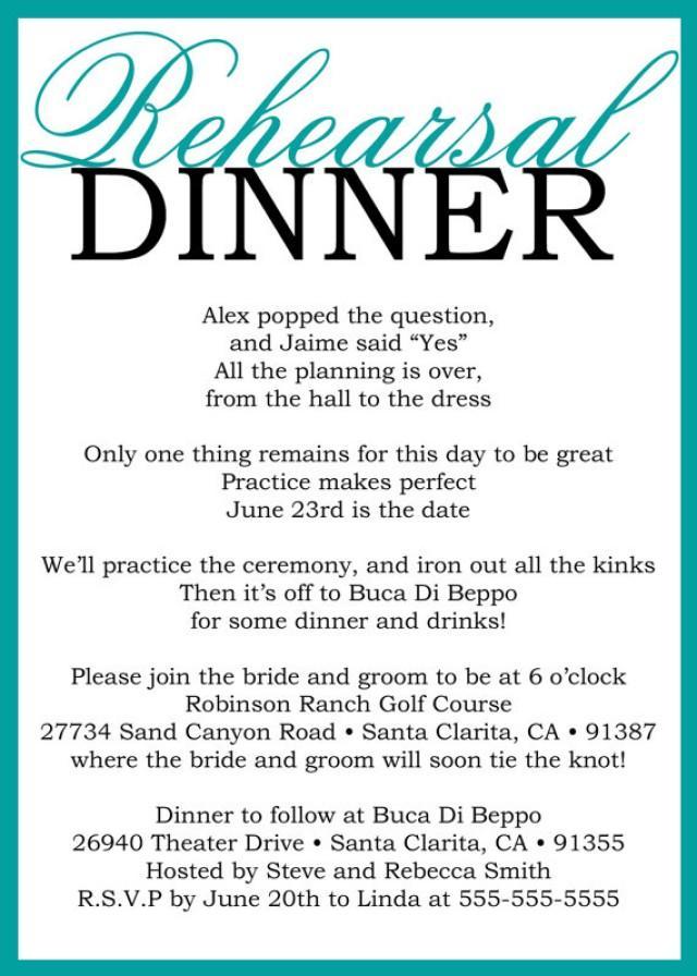 Printable Invitations Rehearsal Dinner