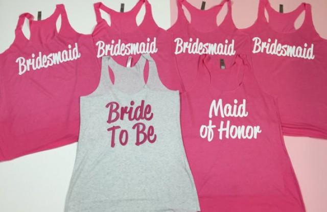11 Bridesmaid Tank Tops. Bride Shirt. Bridesmaid Shirt