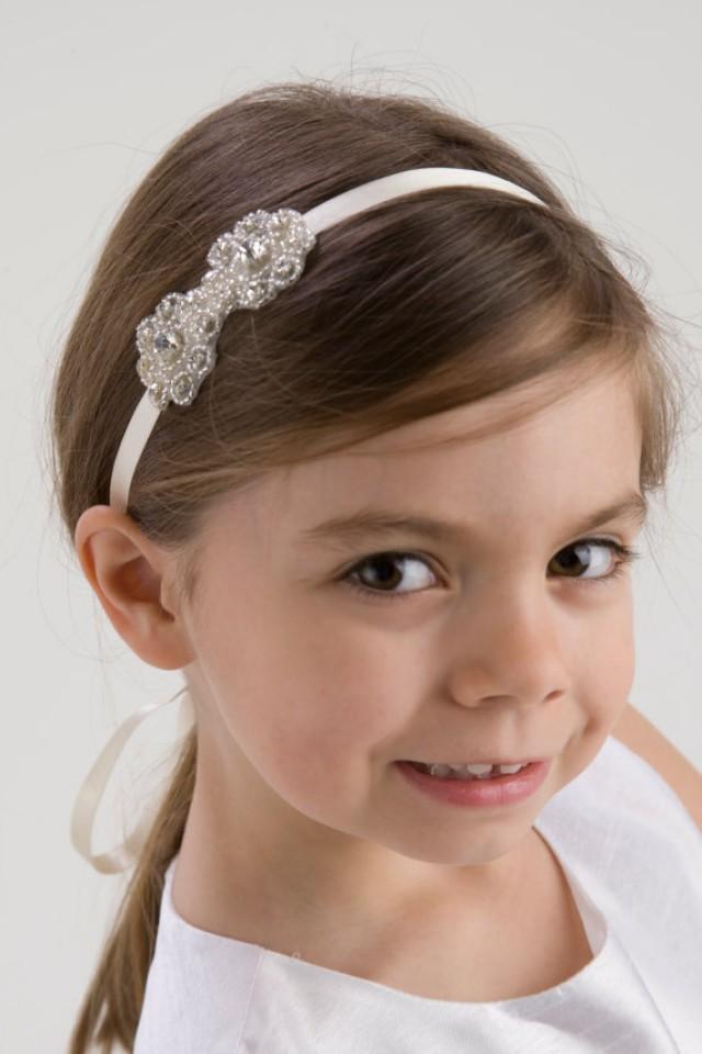 MADELINE Flower Girl Headband Rhinestone Headband