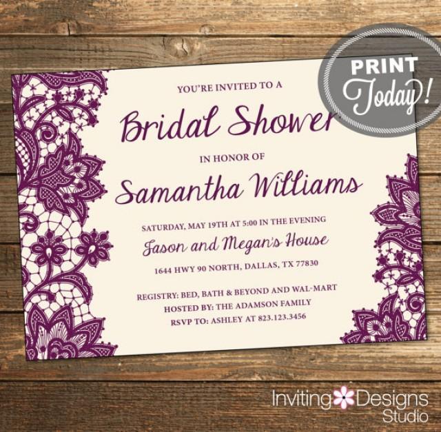 Order Wedding Shower Invitations