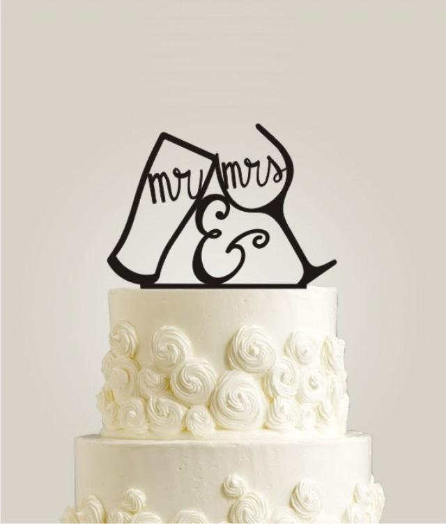 Wedding Cake Topper Mr And Mrs Your Last Name Initial