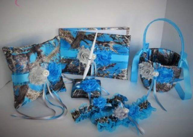 Blue Camo Wedding Set Blue Camouflage Wedding Set True