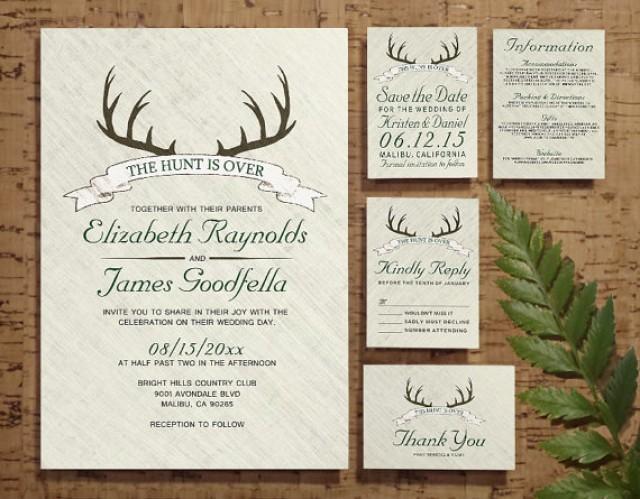The Hunt Is Over Wedding Invitation SetSuite Invites