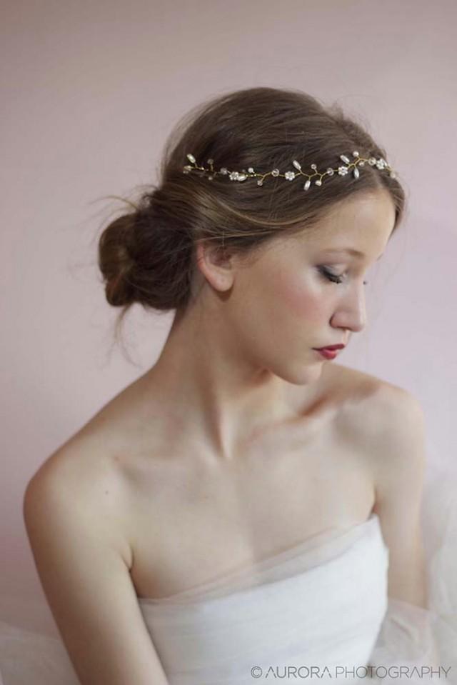 Wedding Hair VineBridal Hair AccessoriesBeaded Pearl