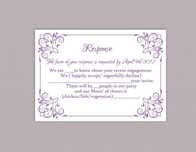 1000 images about diy wedding rsvp and enclosure card templates on – Diy Wedding Rsvp Cards
