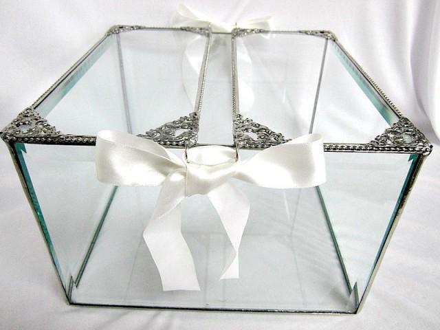 Wedding Card Box, Wedding Card Holder, Glass Wedding Card